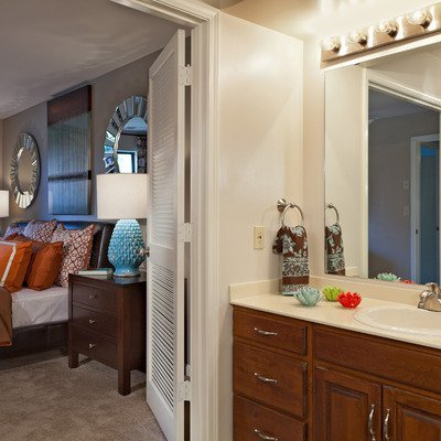 Spacious master bedrooms with walk-in closets